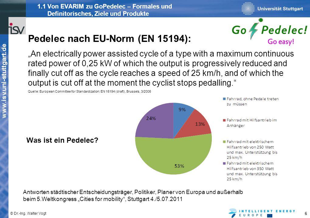 Pedelec nach EU-Norm (EN 15194):