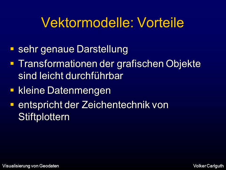 Vektormodelle: Vorteile