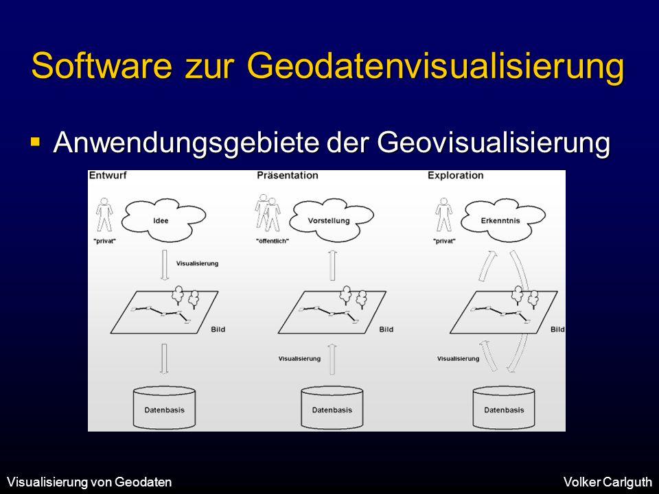 Software zur Geodatenvisualisierung