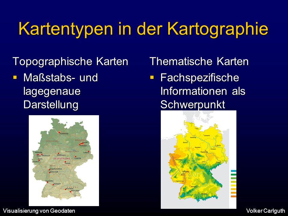 Kartentypen in der Kartographie