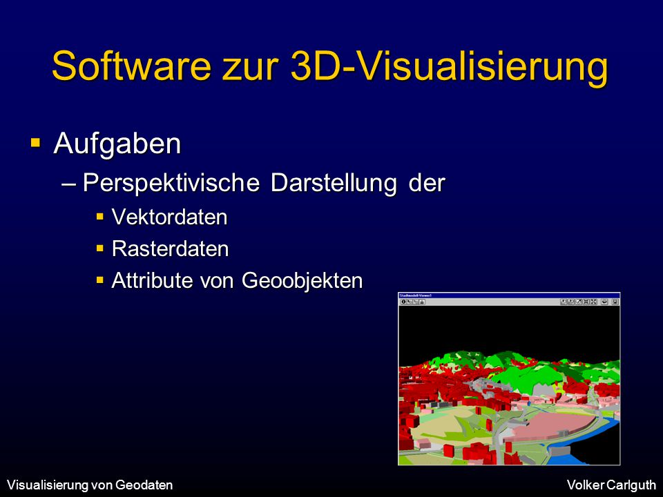 Software zur 3D-Visualisierung