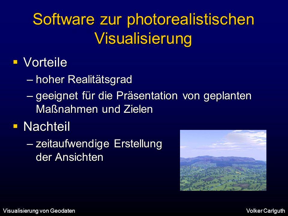 Software zur photorealistischen Visualisierung