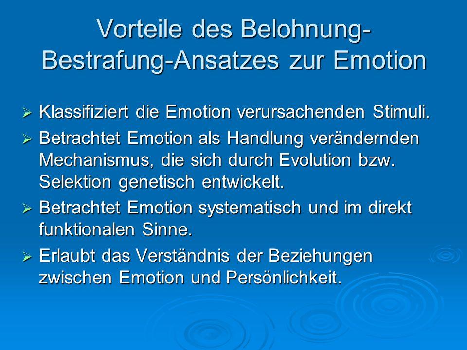 Vorteile des Belohnung-Bestrafung-Ansatzes zur Emotion