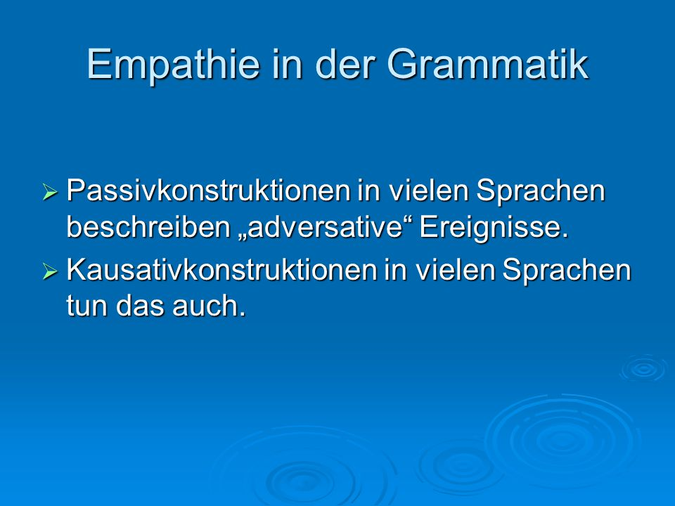 Empathie in der Grammatik