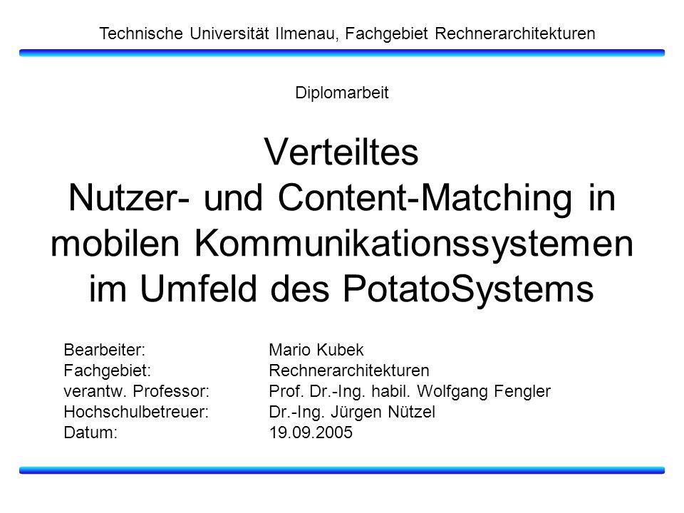 Technische Universität Ilmenau, Fachgebiet Rechnerarchitekturen