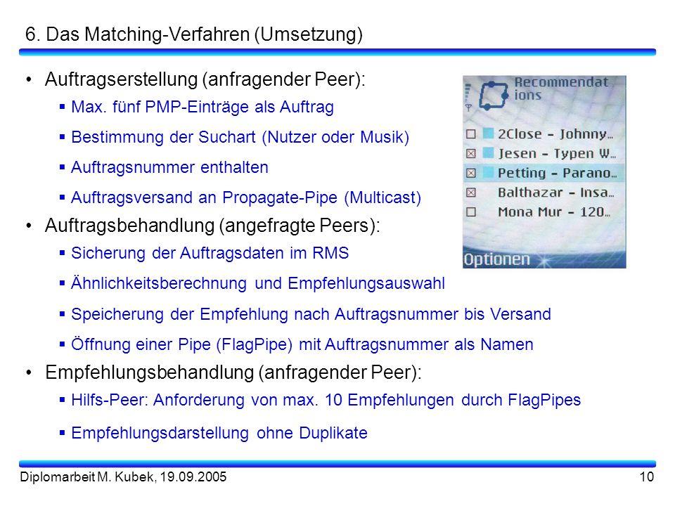 6. Das Matching-Verfahren (Umsetzung)