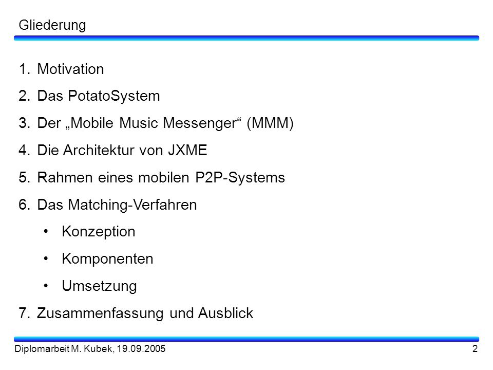 "Der ""Mobile Music Messenger (MMM) Die Architektur von JXME"