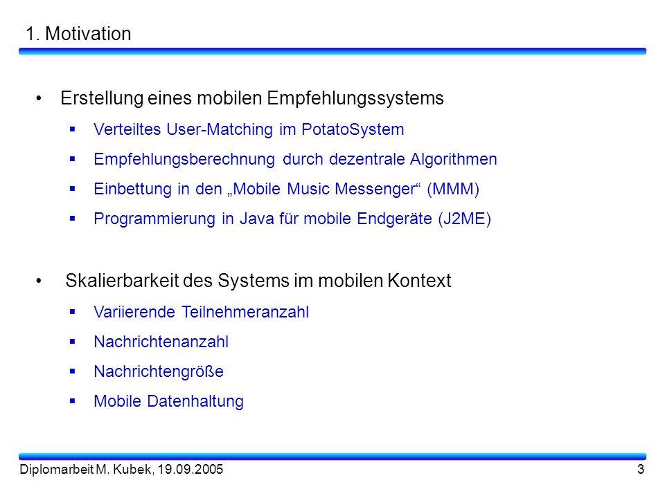 Erstellung eines mobilen Empfehlungssystems