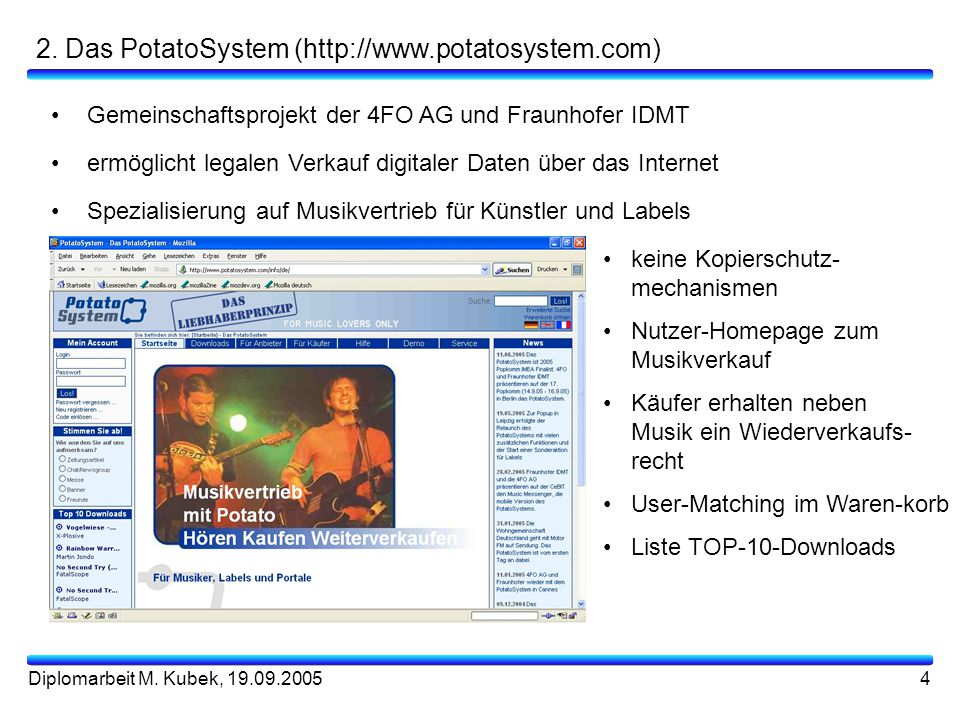 2. Das PotatoSystem (http://www.potatosystem.com)