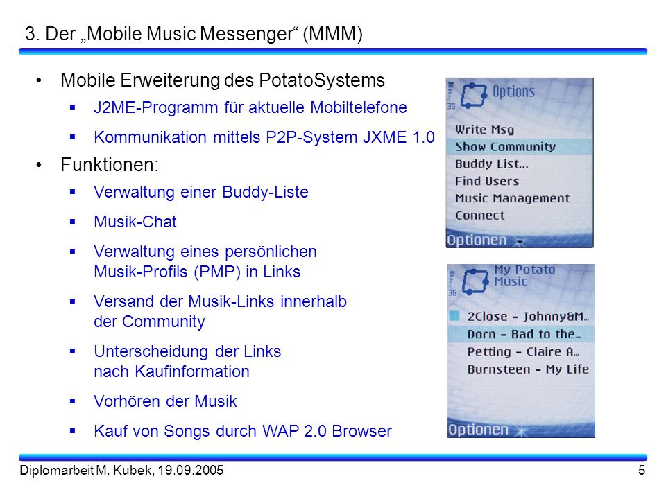 "3. Der ""Mobile Music Messenger (MMM)"
