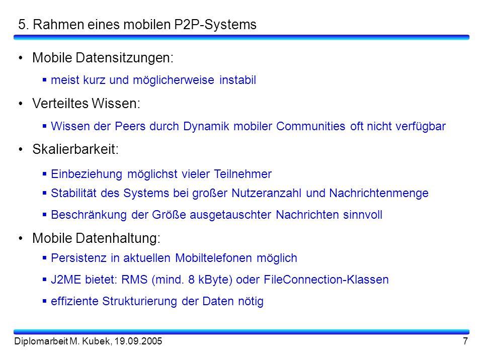 5. Rahmen eines mobilen P2P-Systems
