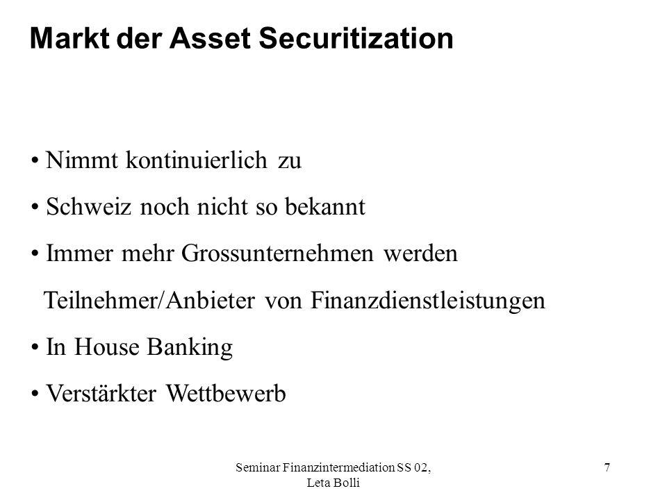 Seminar Finanzintermediation SS 02, Leta Bolli