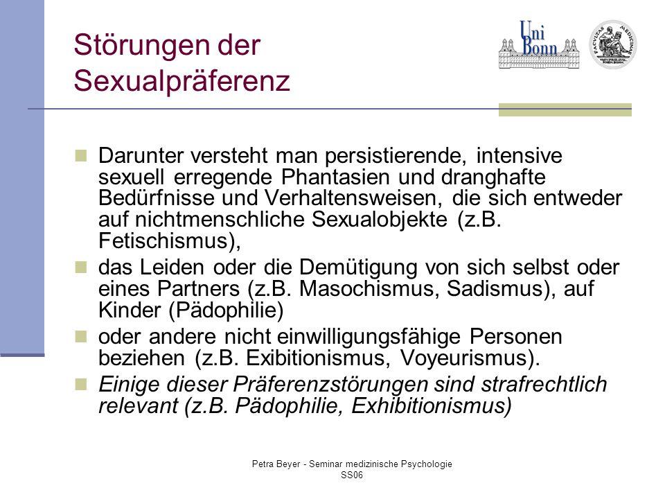 Störungen der Sexualpräferenz