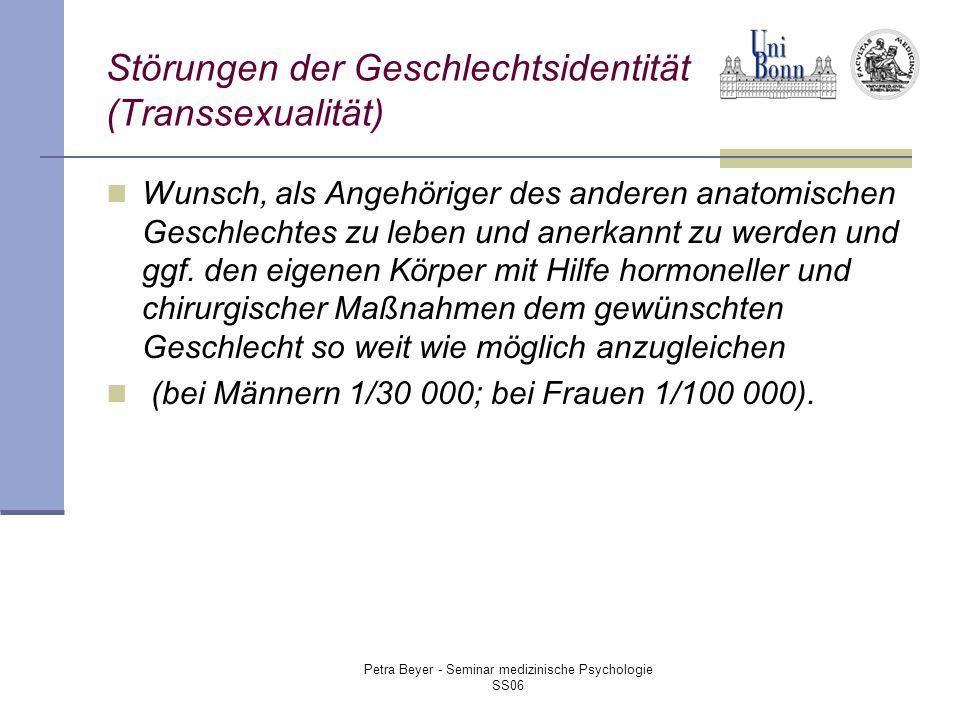 Störungen der Geschlechtsidentität (Transsexualität)