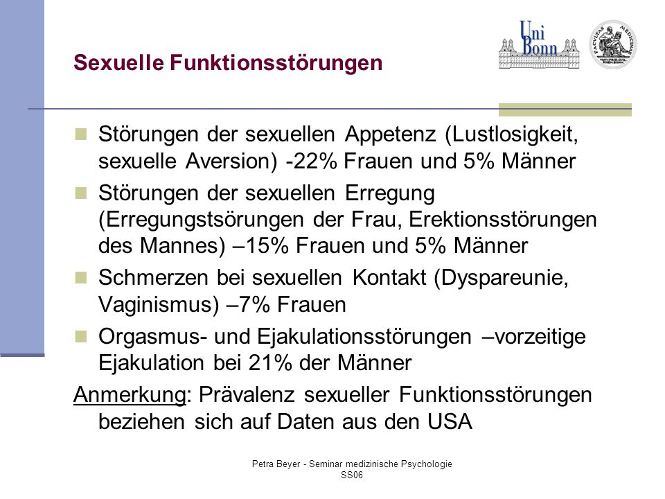 Sexuelle Funktionsstörungen