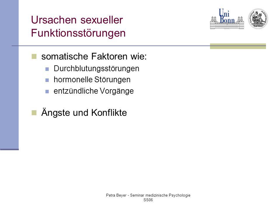 Ursachen sexueller Funktionsstörungen