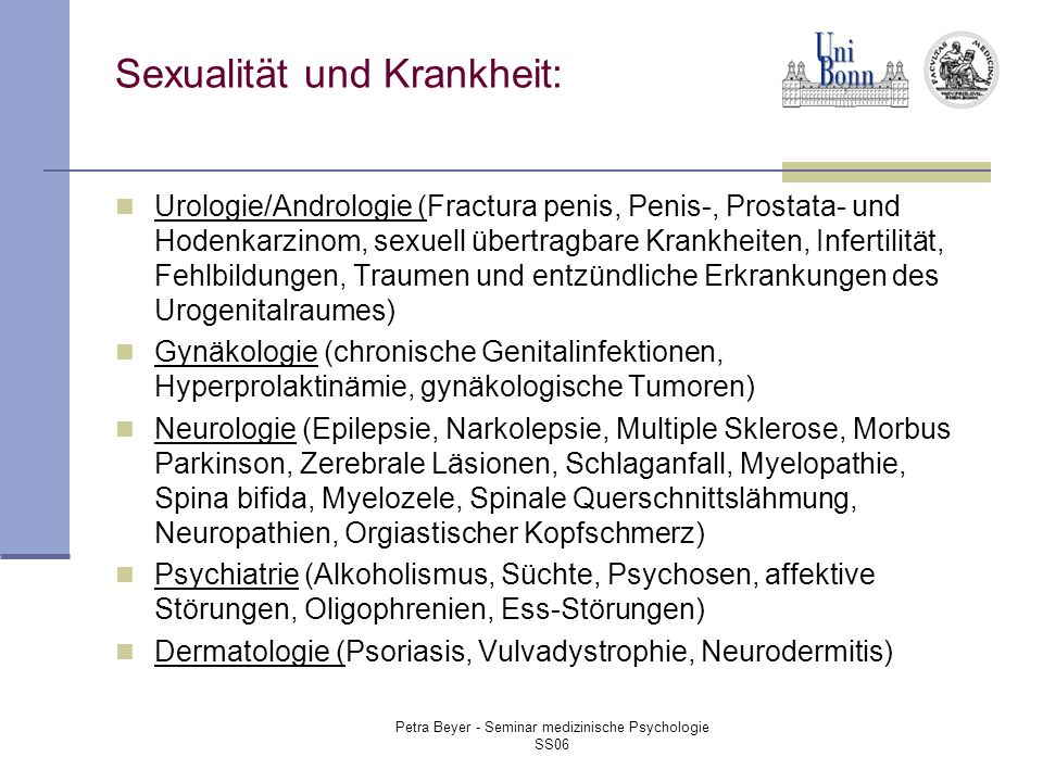 Sexualität und Krankheit: