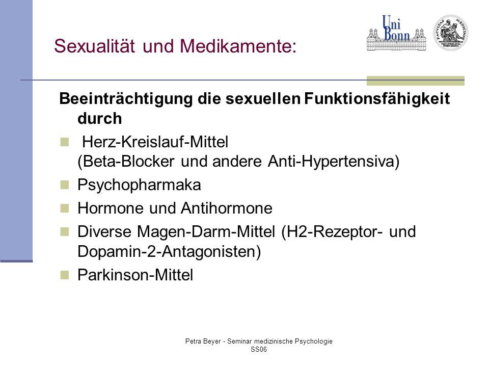 Sexualität und Medikamente: