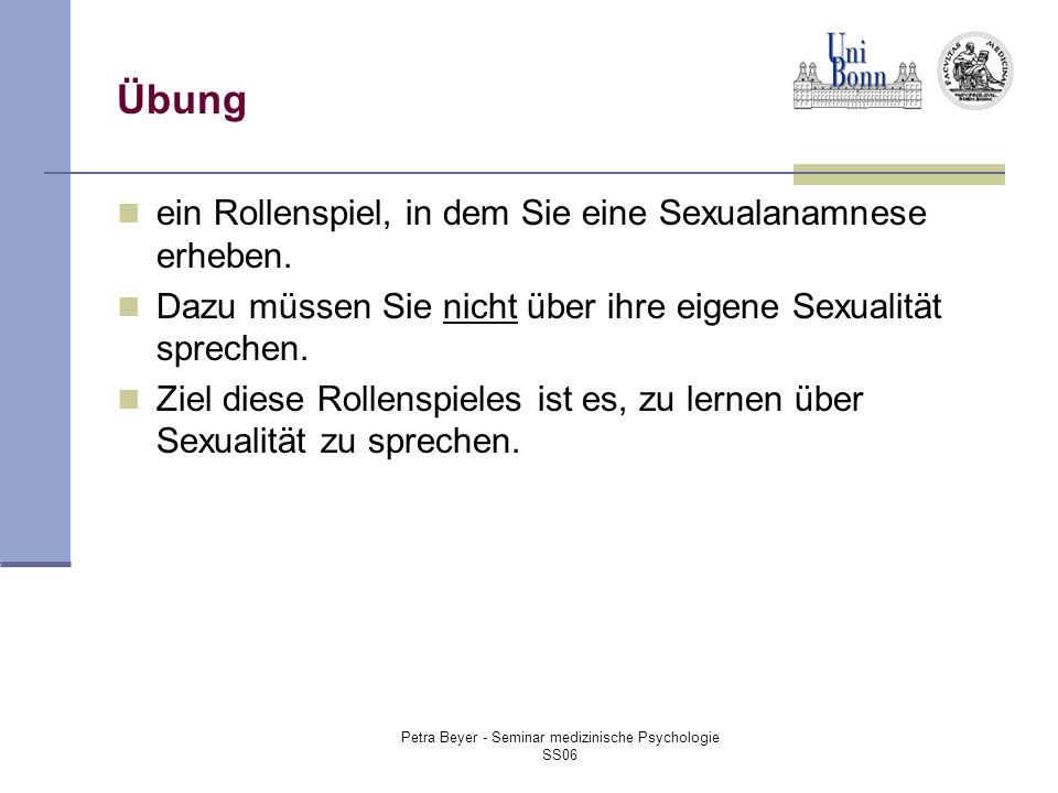 Petra Beyer - Seminar medizinische Psychologie SS06