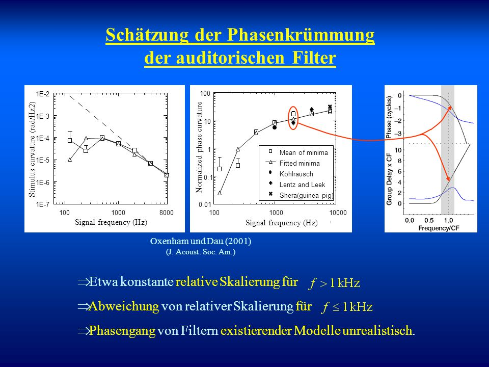 Schätzung der Phasenkrümmung der auditorischen Filter