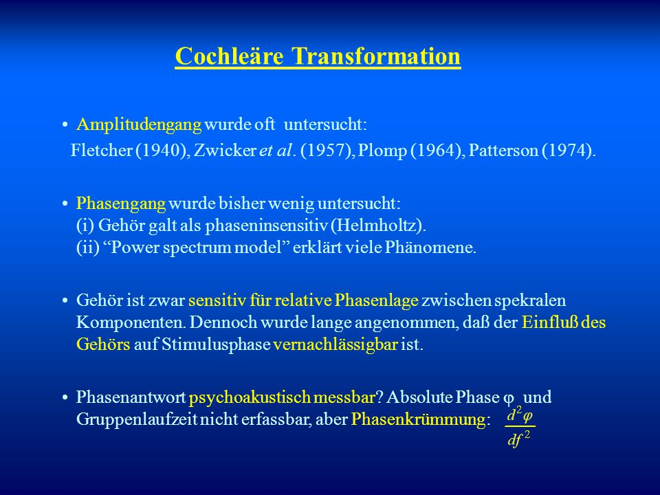 Cochleäre Transformation
