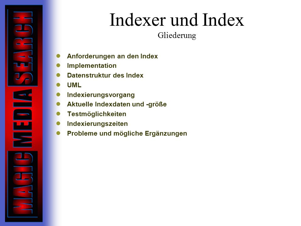 Indexer und Index Gliederung