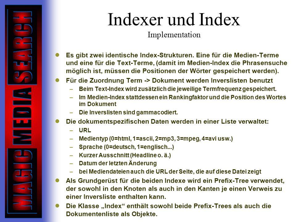 Indexer und Index Implementation