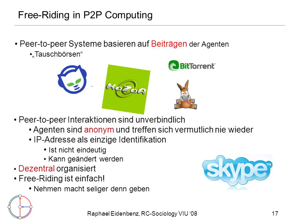Free-Riding in P2P Computing