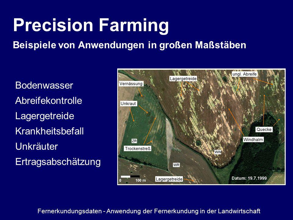 Precision Farming Beispiele von Anwendungen in großen Maßstäben