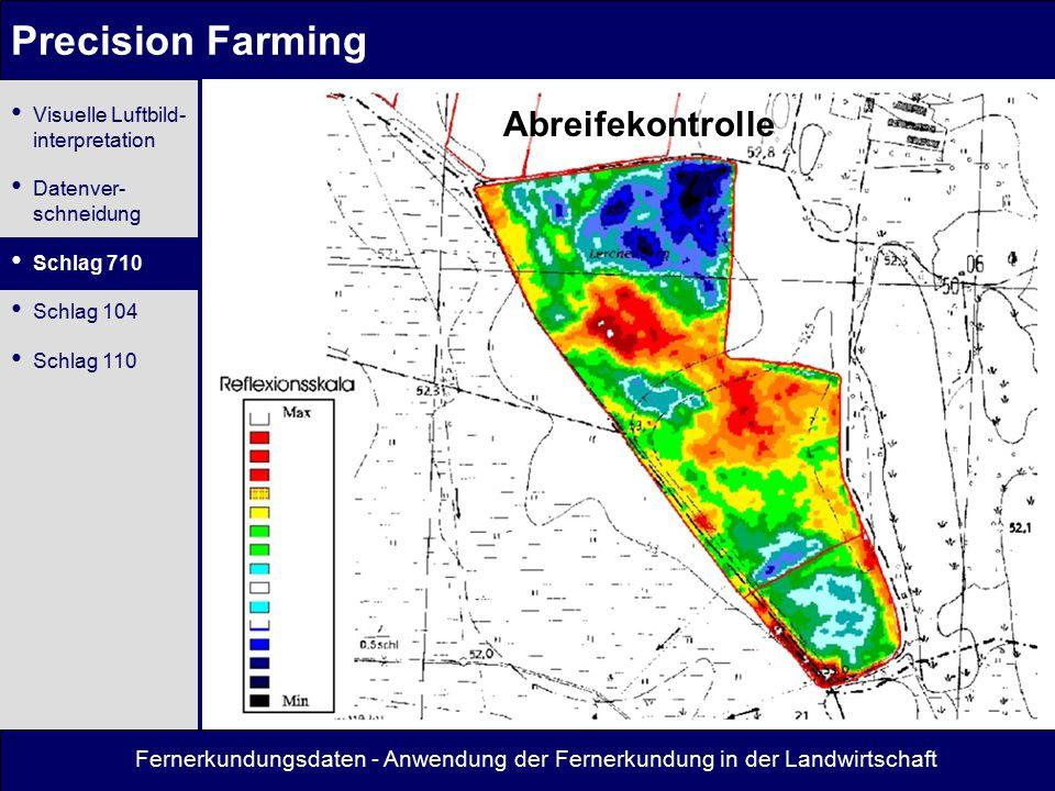 Precision Farming Abreifekontrolle