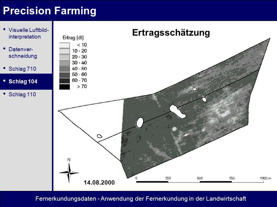 Precision Farming Ertragsschätzung 14.08.2000