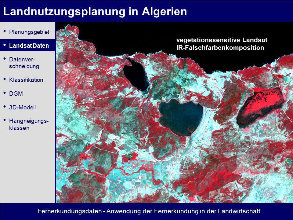 Landnutzungsplanung in Algerien