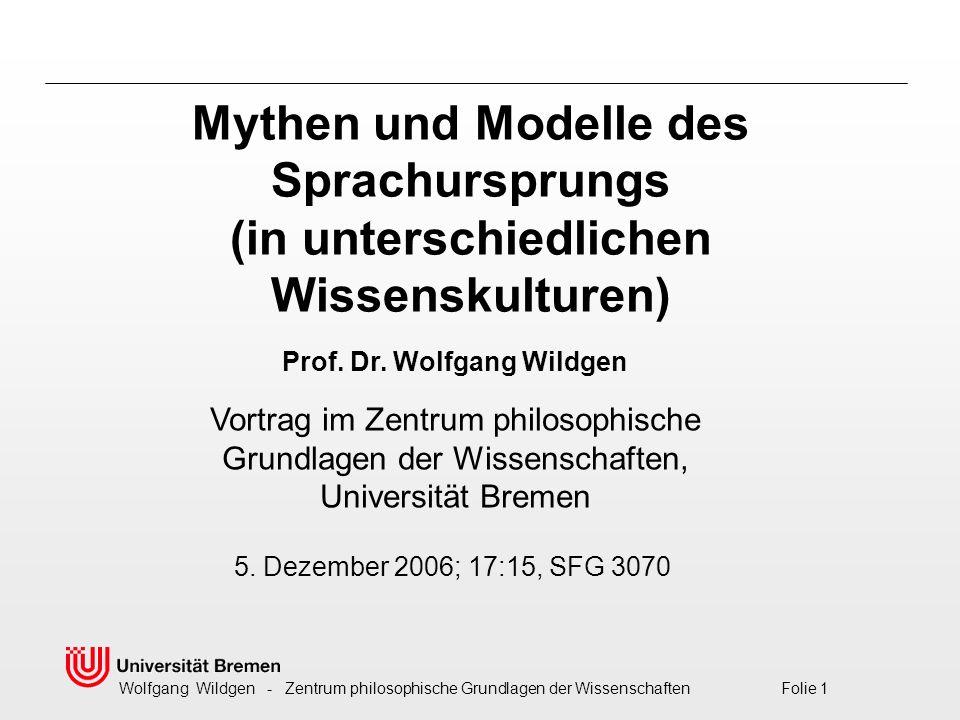 Mythen und Modelle des Sprachursprungs (in unterschiedlichen Wissenskulturen)