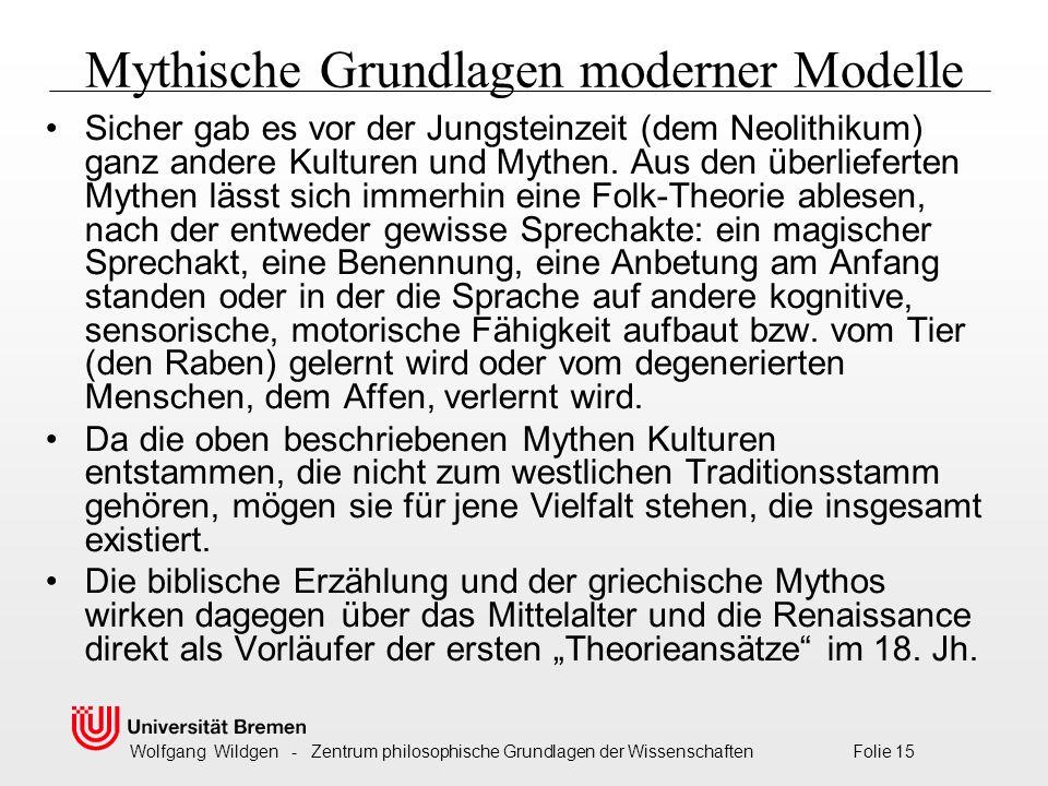 Mythische Grundlagen moderner Modelle