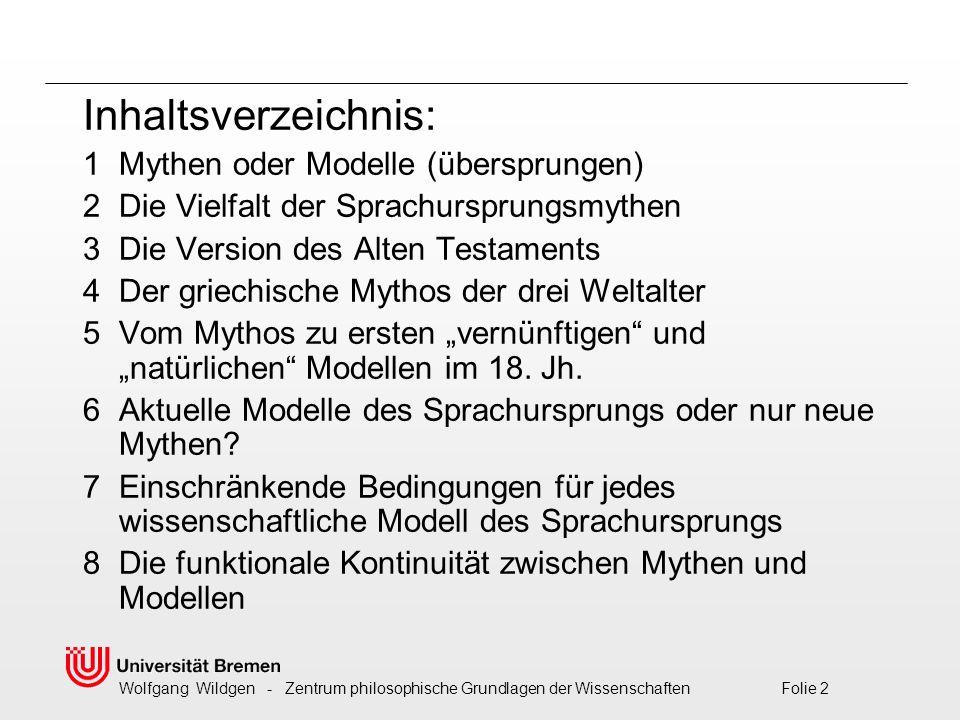 Inhaltsverzeichnis: 1 Mythen oder Modelle (übersprungen)