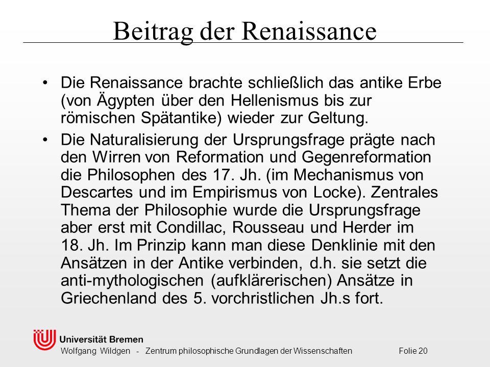 Beitrag der Renaissance