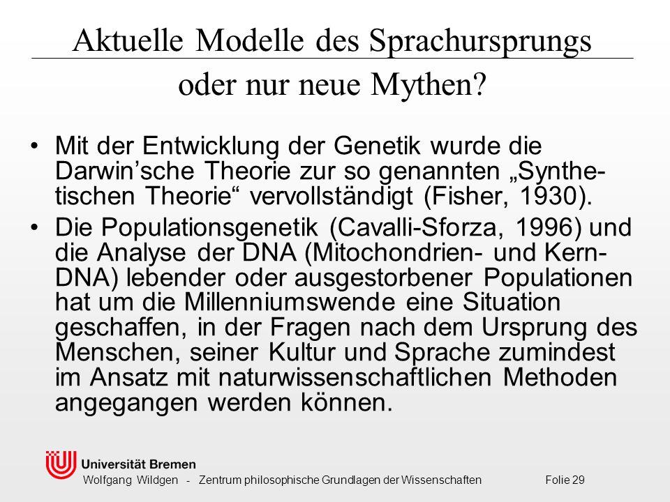 Aktuelle Modelle des Sprachursprungs oder nur neue Mythen
