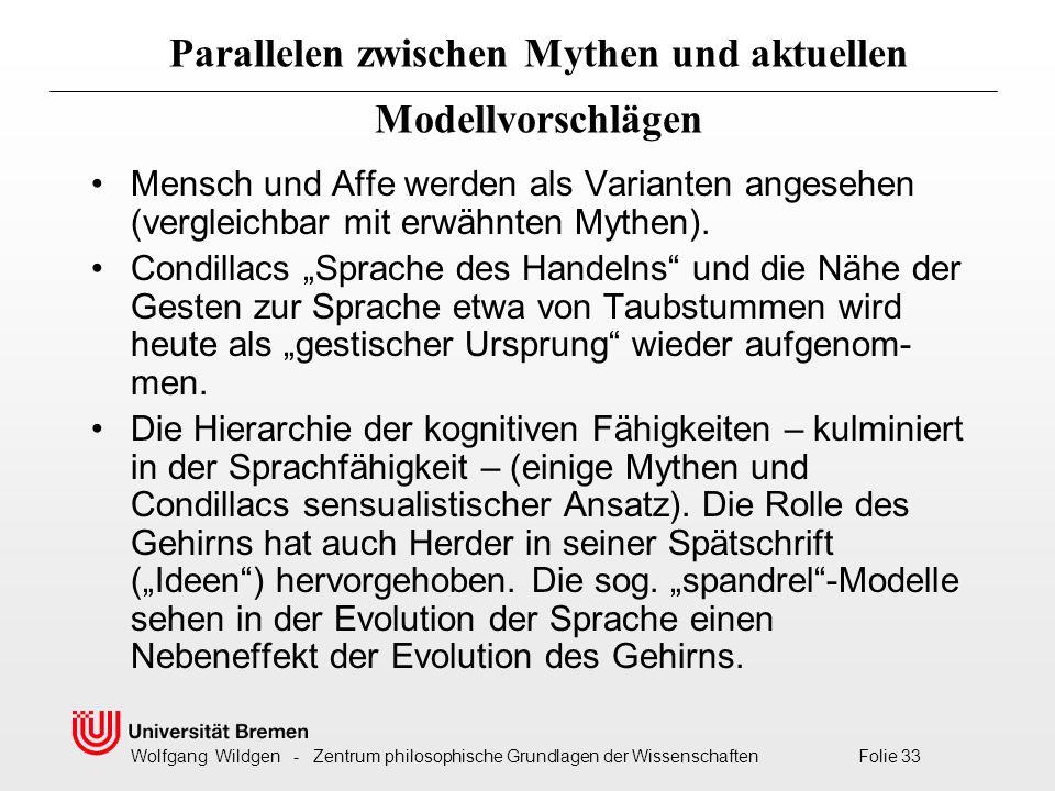 Parallelen zwischen Mythen und aktuellen Modellvorschlägen