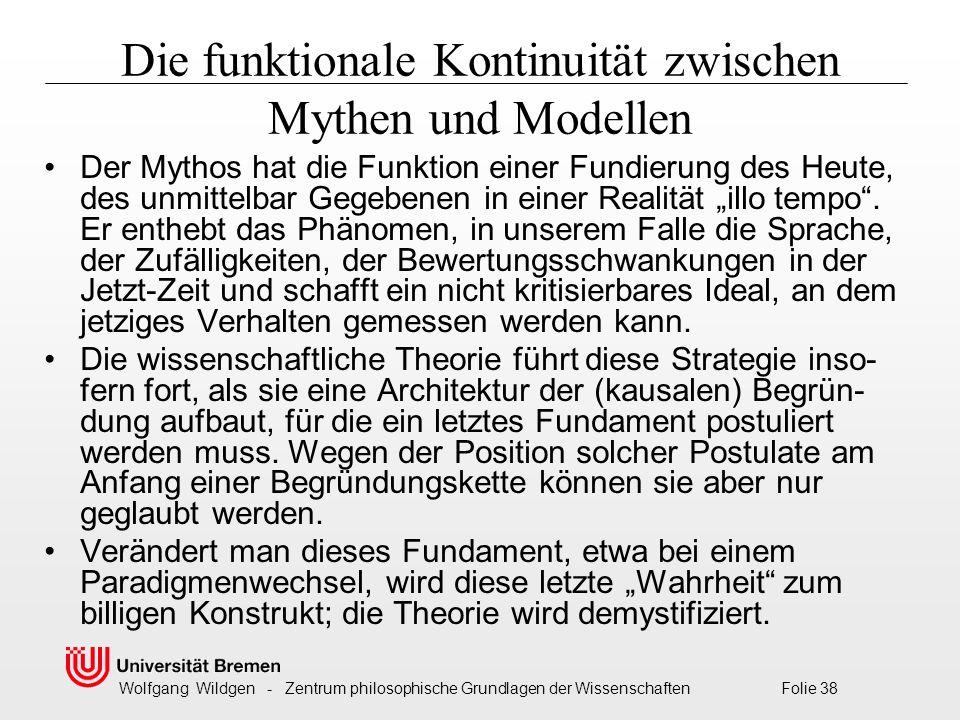 Die funktionale Kontinuität zwischen Mythen und Modellen