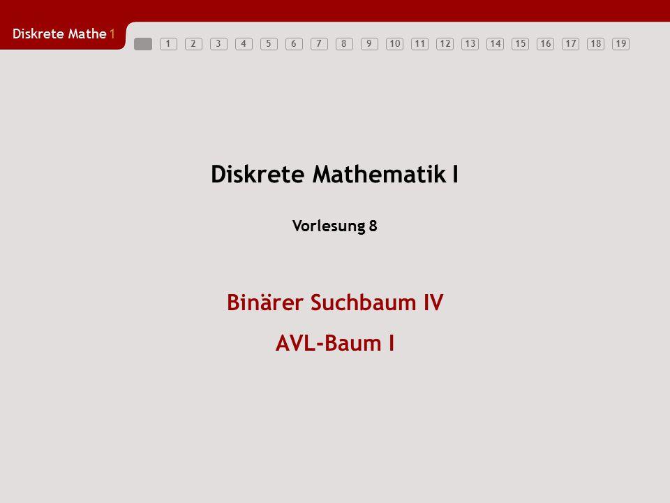 Binärer Suchbaum IV AVL-Baum I