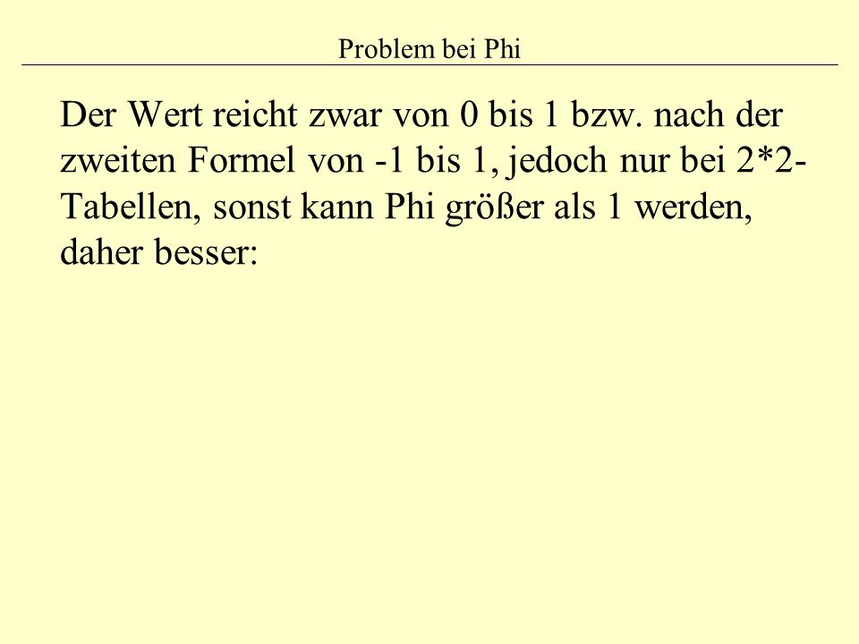 Problem bei Phi