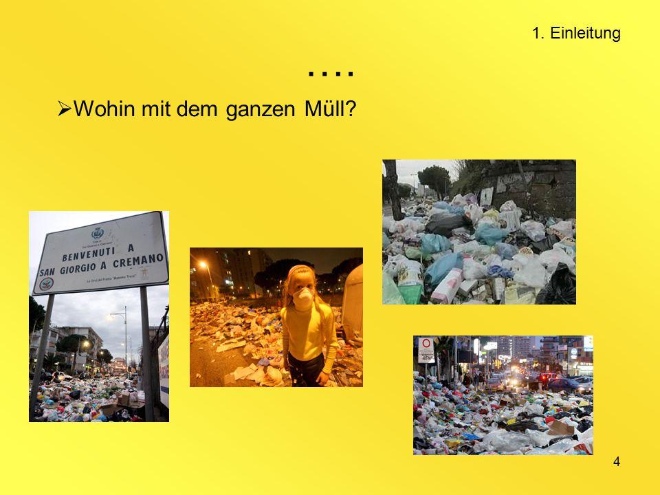 …. 1. Einleitung Wohin mit dem ganzen Müll