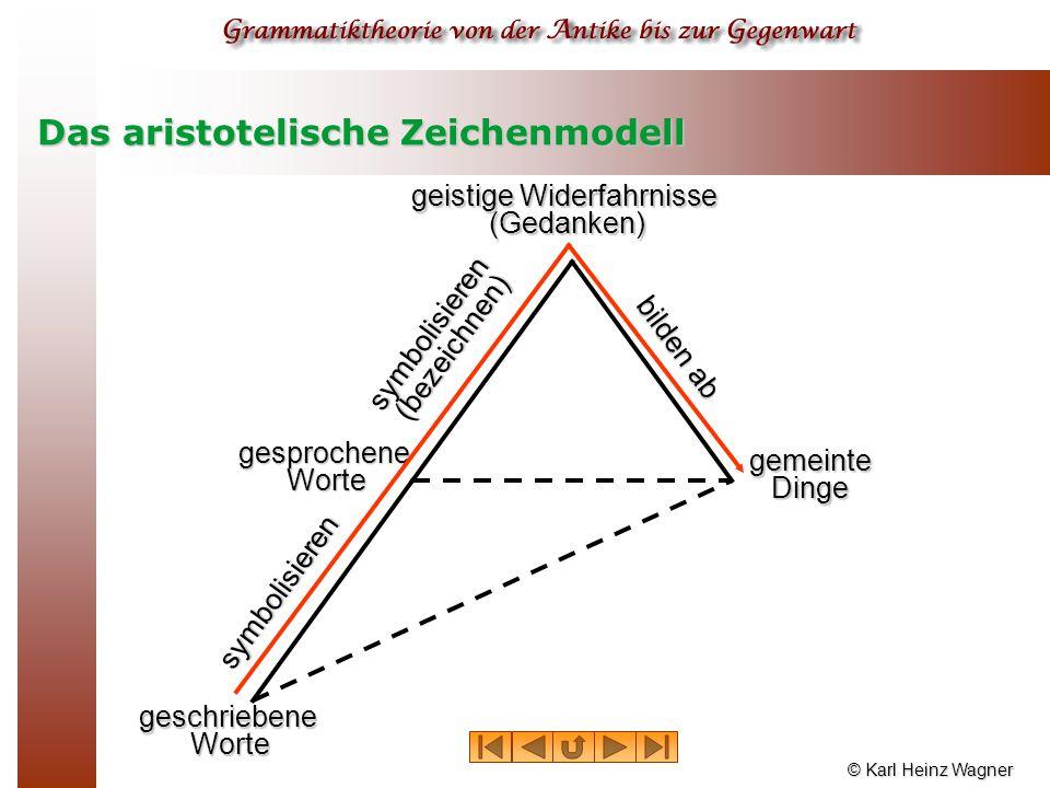 Das aristotelische Zeichenmodell