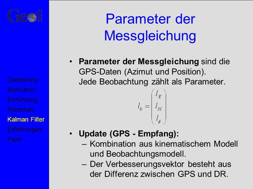 Parameter der Messgleichung