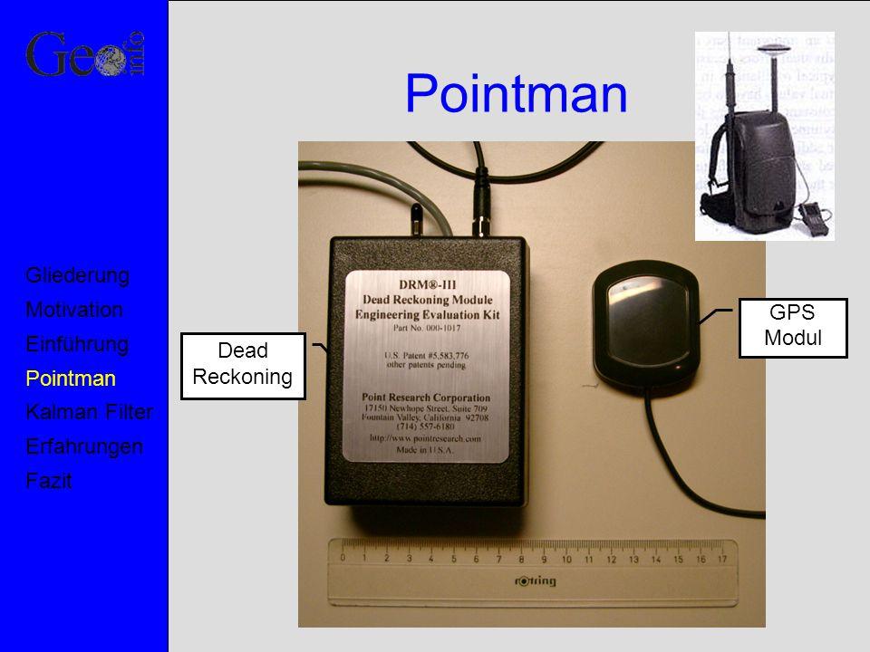 Pointman Gliederung Motivation GPS Modul Einführung Dead Reckoning