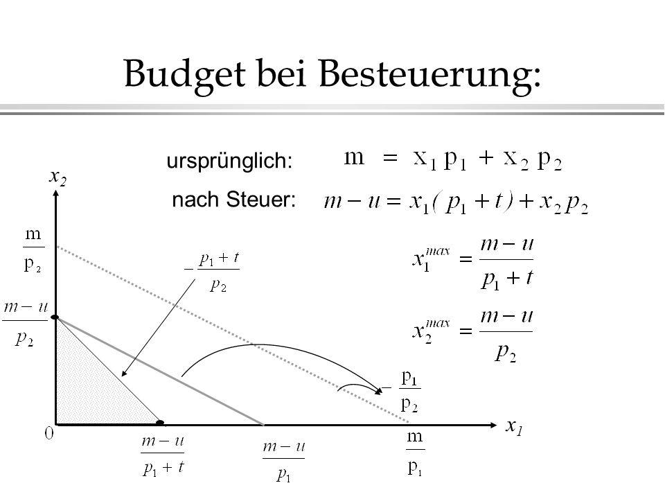 Budget bei Besteuerung: