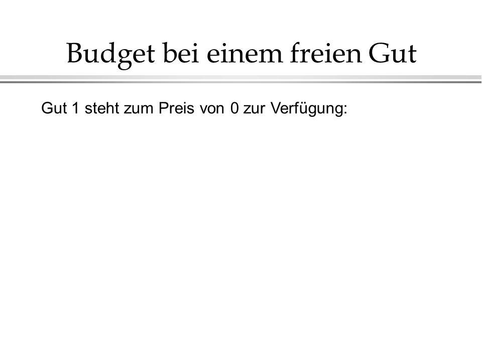 Budget bei einem freien Gut