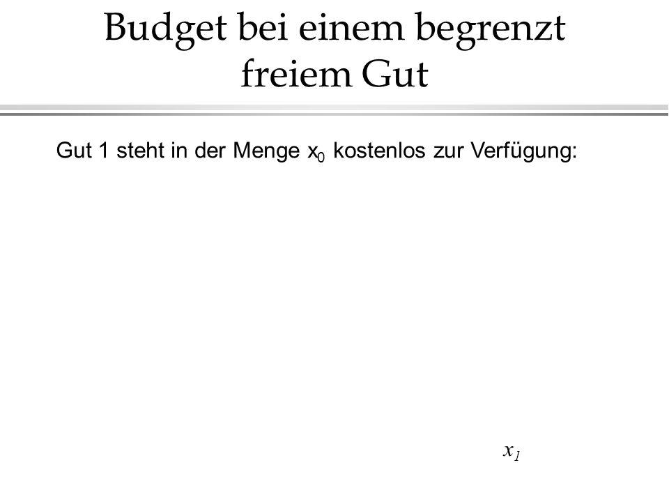 Budget bei einem begrenzt freiem Gut