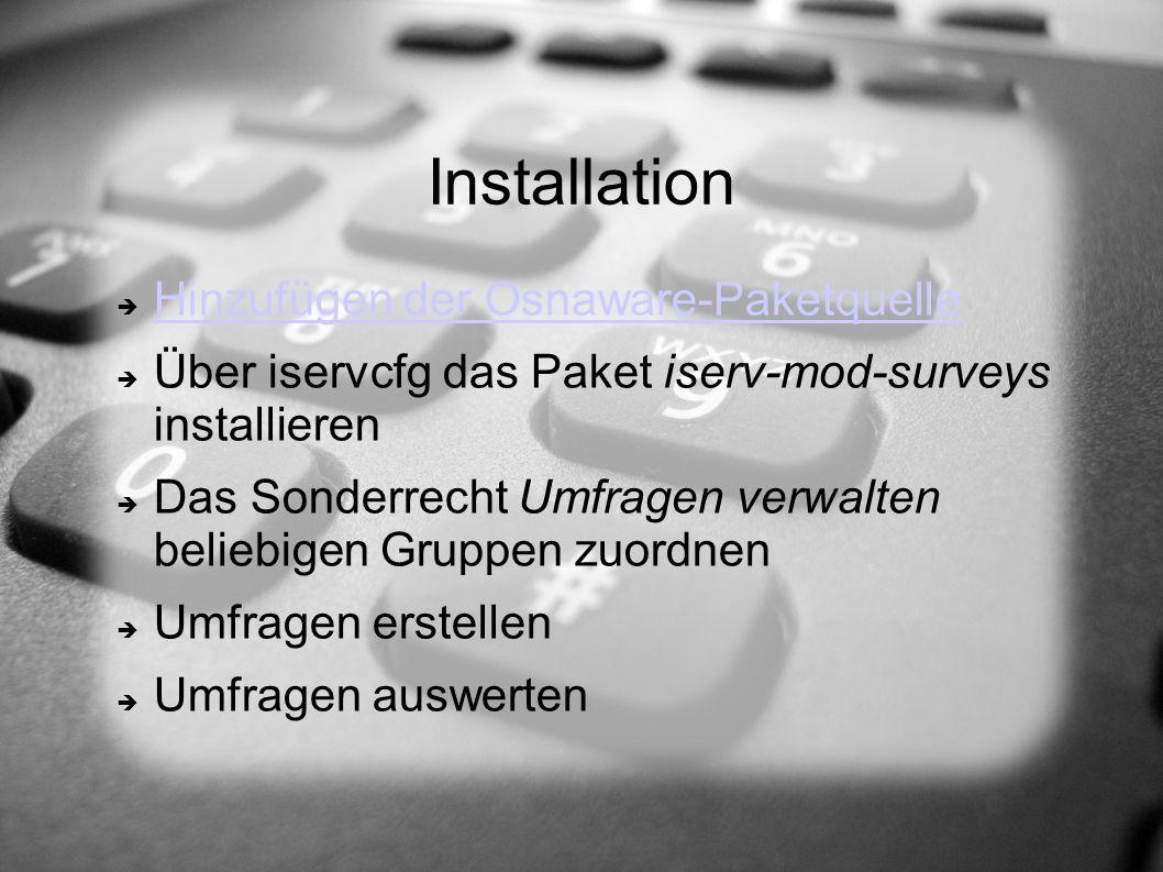 Installation Hinzufügen der Osnaware-Paketquelle