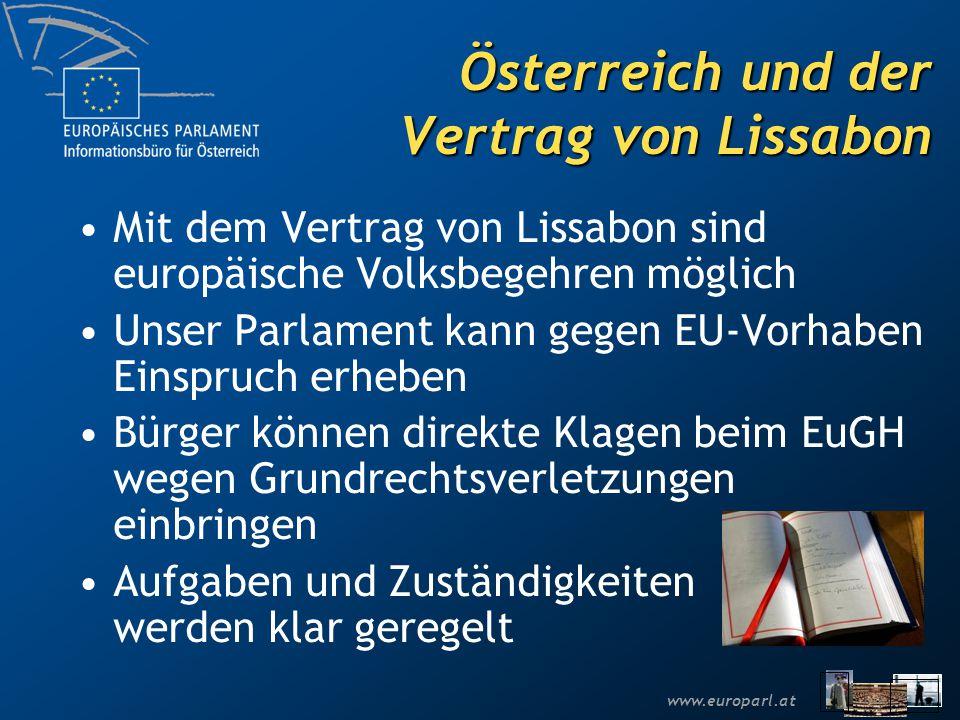 Österreich und der Vertrag von Lissabon